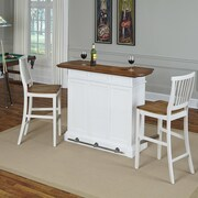 Home Styles Americana Home Bar Set; White