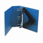 Wilson Jones Heavy-Duty No-Gap D-Ring Binder with Label Holder, 4'' Capacity; Dark Blue