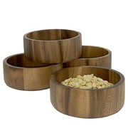 Woodard & Charles Acacia Wood Snack Bowl (Set of 4)
