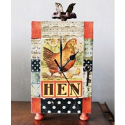 Creative Co-Op Casual Country Hen Mantel Clock