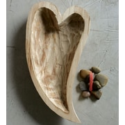 Creative Co-Op Decorative Heart Shape Decorative Bowl