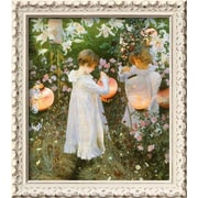 Wildon Home   'Chinese Lanterns, Girls, 1885' by John Singer Sargent Framed Painting Print