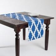 Saro Melilla Moroccan Design Table Runner; Navy Blue