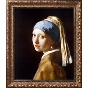 Wildon Home   'Girl w/ a Pearl Earring (2003)' by Jan Vermeer Framed Graphic Art