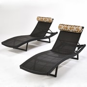 RST Brands Outdoor Deco Chaise Lounge with Cushion (Set of 2)