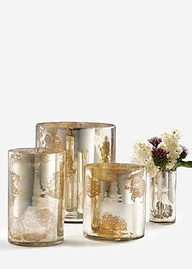 Serene Spaces Living Glass Cylinder Vase (Set of 6); Antique Silver WYF078278795499