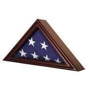 Jenlea Flag Display Frame; Cherry