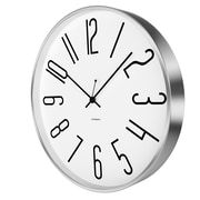 JONSSON Timeware Artus 11.75'' Wall Clock; White/Stainless Steel