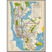 Wildon Home   '1949, New York Subway Map, New York, United States' Graphic Art
