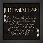 Wildon Home   'Jeremiah 29-11' by Taylor Greene Framed Textual Art