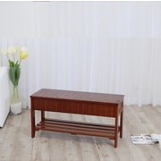 Roundhill Furniture Rennes Wood Storage Bench; Cherry