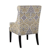 Madison Park Marcel High Back Wing Arm Chair; Yellow