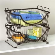 Spectrum Diversified Ashley Stackable Basket Tray; Bronze