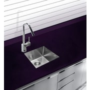 Ukinox 17.75'' x 15.375'' Undermount Single Bowl Stainless Steel Kitchen Sink
