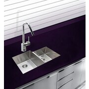 Ukinox 20.5'' x 16'' Undermount Double Bowl Stainless Steel Kitchen Sink