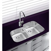Ukinox 20.5'' x 20.5'' Undermount Double Bowl Stainless Steel Kitchen Sink
