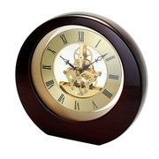 Natico Interactive Gear Table Clock; Mahogany
