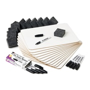 Charles Leonard Lap Board Class Pack, Plain/Lined, 2-Sided, 12 lap boards, 12 dry erase markers, 12 erasers (CHL35030)