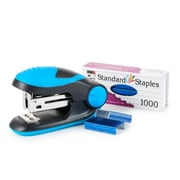Charles Leonard Soft Grip Mini-Stapler Kit, Standard Staples, Blue, 6 packs (CHL82215)
