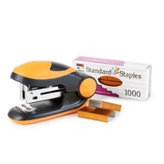 Charles Leonard Soft Grip Mini-Stapler Kit, Standard Staples, Orange, 6 packs (CHL82265)