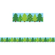Creative Teaching Press Woodland Friends Patterned Pine Trees Border (35 x 3)