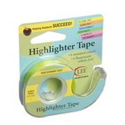"Lee Products Removable Highlighter Tape, 3""W x 4""L, Yellow, Bundle of 6 (LEE13975)"