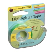 "Removable Highlighter Tape, 3""W x 4""L, Green, Bundle of 6 (LEE13976)"