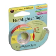 "Lee Products Removable Highlighter Tape, 3""W x 4""L, Orange, Bundle of 6 (LEE13977)"