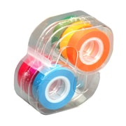 """Lee Products Removable Highlighter Tape, 4""""W x 5""""L, Fluorescent Colors, Pack of 6 (LEE19188)"""