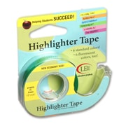 "Lee Products Removable Highlighter Tape, 3""W x 4""L, Fluorescent Green, Bundle of 6 (LEE19976)"