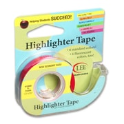 "Lee Products Removable Highlighter Tape, 3""W x 4""L, Fluorescent Purple, Bundle of 6 (LEE19980)"