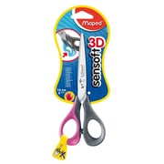 "Maped USA Sensoft 3D Scissors, Blunt Tip, 6.33"", Assorted Colors, 12 packs of 1 (MAP696510)"