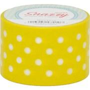 "DSS Distributing Snazzy Tape, White Polka Dot on Yellow, 1.5"" x 13 Yards, White & Yellow/Polka Dot, Bundle of 6 (MAV4710)"