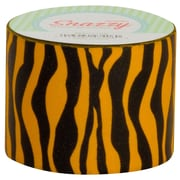 "DSS Distributing Snazzy Tape, 1.5"" x 13 Yards, Black & Orange/Zebra Stripe, Bundle of 6 (MAV4726)"