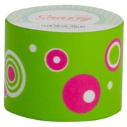 DSS Distributing Snazzy Tape, Adhesive Tape, 13 Yards, Pink and Green/Circles, Bundle of 6 (MAV4731)