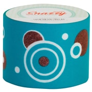 "DSS Distributing Snazzy Tape, 1.5"" x 13 yards, Brown & Turquoise/Circles, Bundle of 6, (MAV4732)"