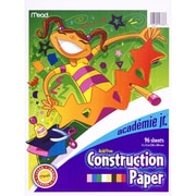 "Mead® Academie Jr. 9""W x 12""L Construction Paper, Assorted Colors (MEA53336)"