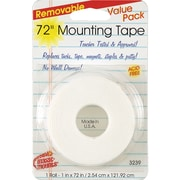 "Miller Studio Remarkably Removable Magic Mounting Tape, 1"" x 72"", White, Bundle of 6 (MIL3239)"