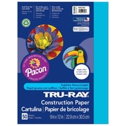"Pacon Corporation Tru-Ray® Fade-Resistant Construction Paper, 9"" x 12"", Atomic Blue (PAC103400)"