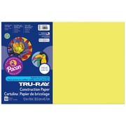 "Pacon Corporation Tru-Ray® Fade-Resistant Construction Paper, 12"" x 18"", Lively Lemon (PAC103403)"