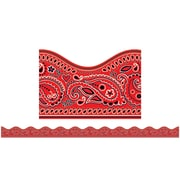 Scholastic Teaching Resources Red Bandanna Scalloped Trimmer (36 x 2.25)