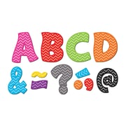 "Teacher Created Resources Chevron Fantastic Font 3"" Magnetic Letters, 67 Pieces (TCR77213)"