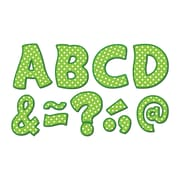 "Teacher Created Resources Lime Polka Dots Fantastic Font 3"" Magnetic Letters, 67 Pieces (TCR77215)"