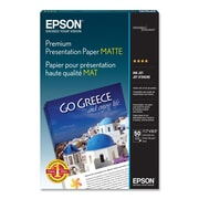 """Epson® Matte Premium Presentation Paper, 11.7"""" x 16.5"""", White, 50/Pack (S041260)"""