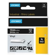 "Dymo® 1805436 0.47"" Color Coded Label, White on Black"