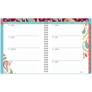 AT-A-GLANCE® Wirebound 2016 Playful Paisley Weekly/Monthly Planner, Assorted (985-905-16)