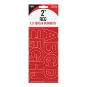 "Cosco® Letter and Number, 2"", Vinyl, Red (98140)"