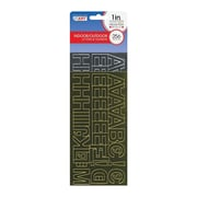 """Cosco® Letter and Number, 1"""", Gold and Silver Foil (98151)"""
