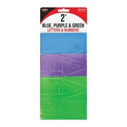"""Cosco® Letter and Number, 2"""", Blue/Purple/Green (98158)"""