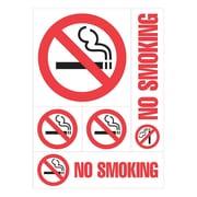 "Cosco® No Smoking Sign, 12"" x 8"", Plastic, Orange (98267)"